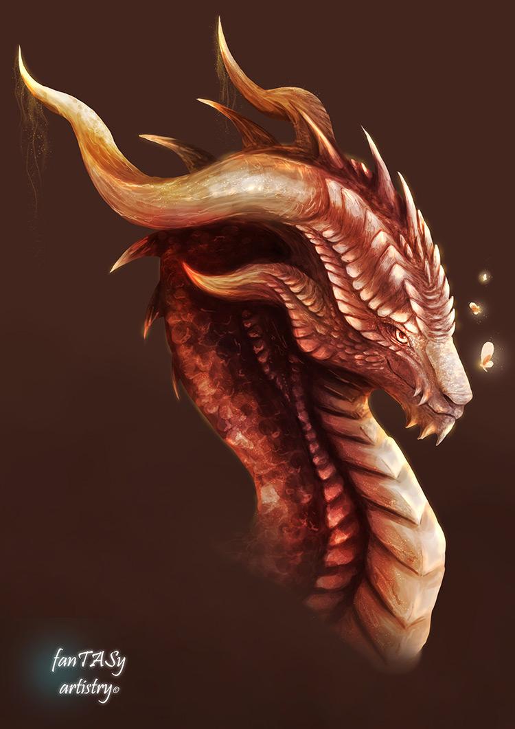 dragon creature fantasy concept art