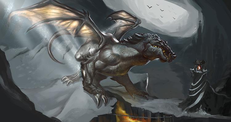 dragon monster summon fantasy art