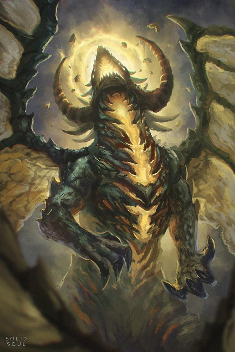 dragon monster creature fantasy art sketch