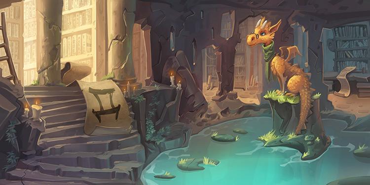 dragon character fantasy art book illustration