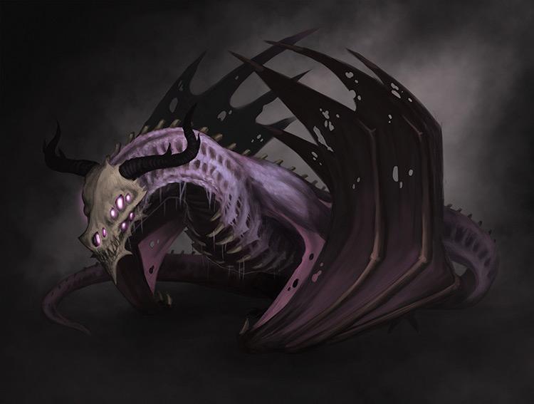 dragon monster creature concept art