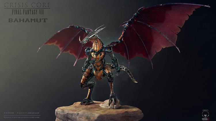 dragon character wings concept fan art