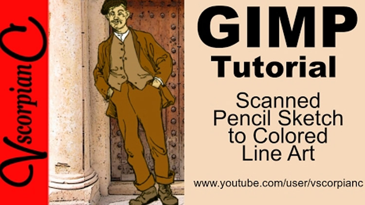 Line Drawing Gimp : Best free gimp tutorials for beginners drawing painting