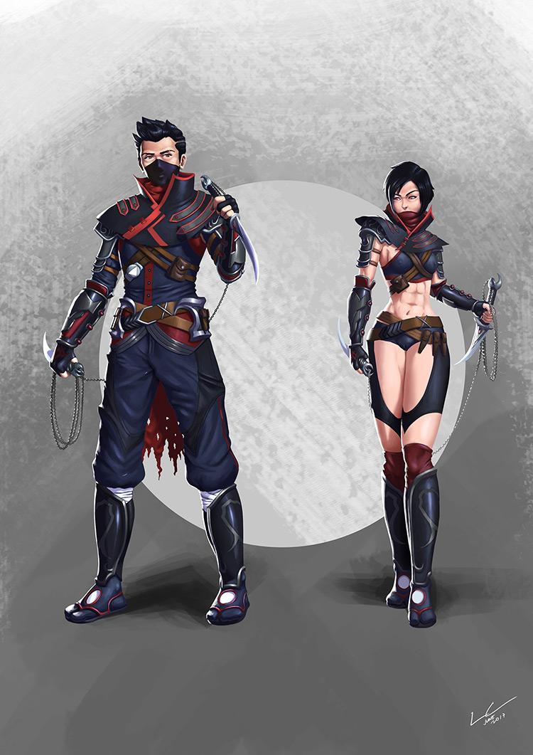Ninja mask concept art