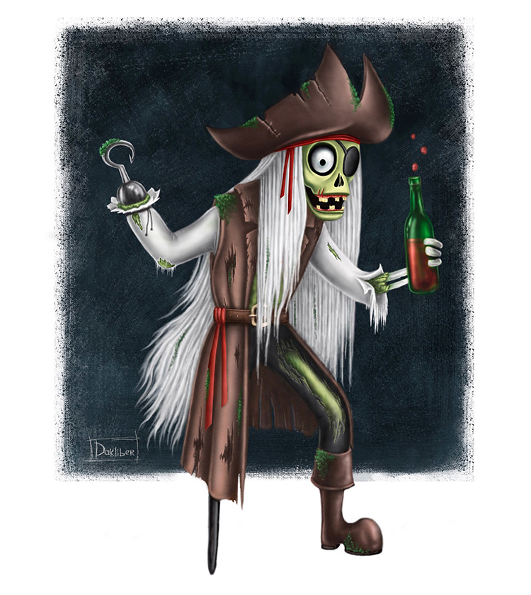 zombie pirate undead art illustration