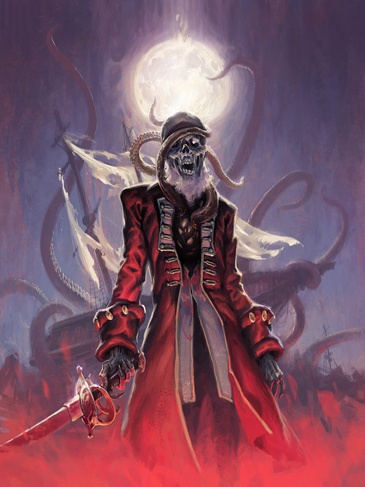 zombie pirate undead horror character art illustration