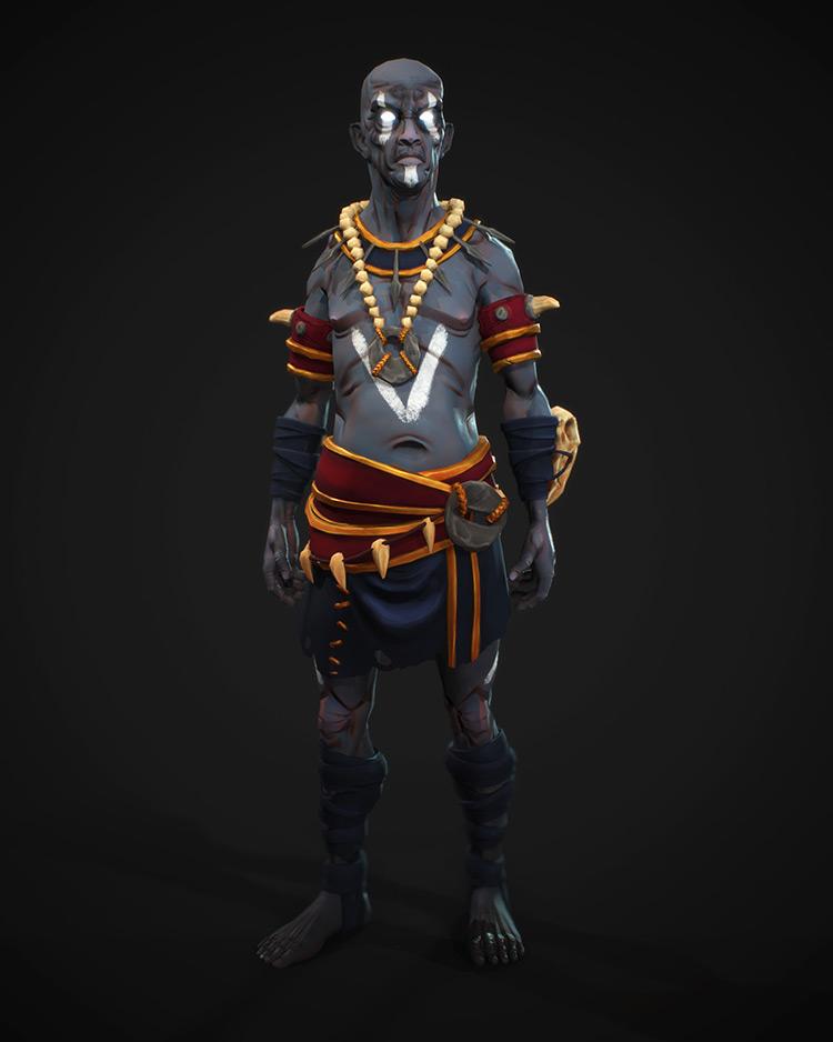 zombie shaman character design concept art