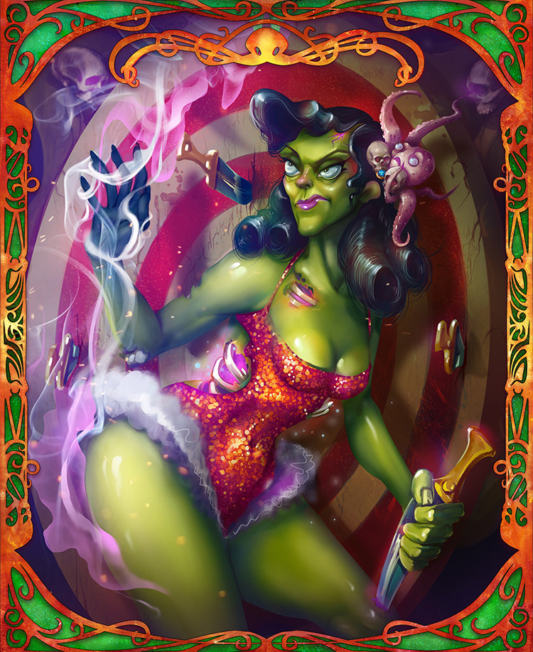zombie girl undead female circus art