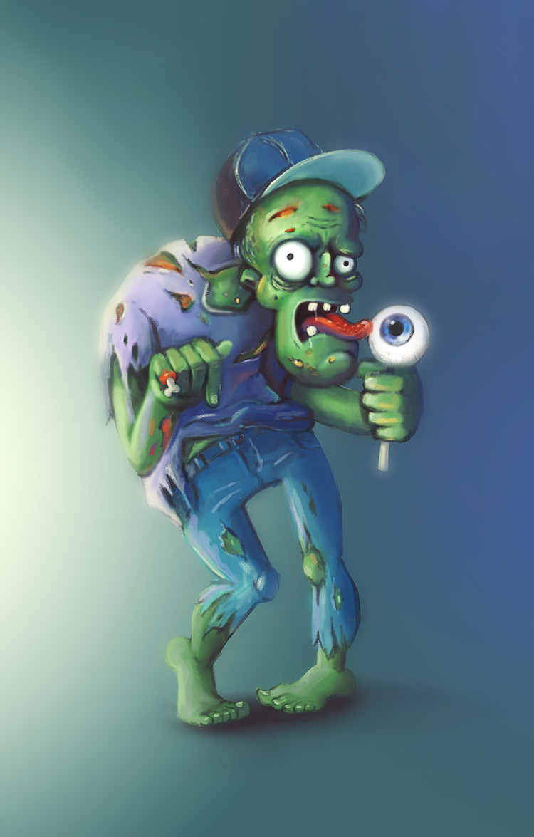 zombie undead kid candy character art