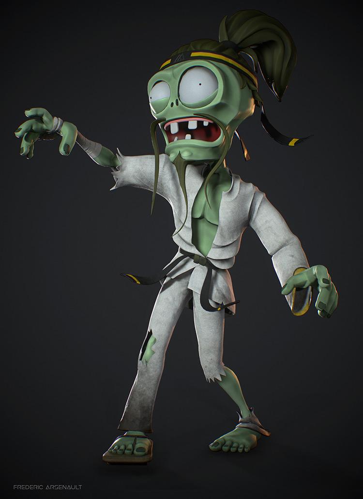 zombie karate character design concept art