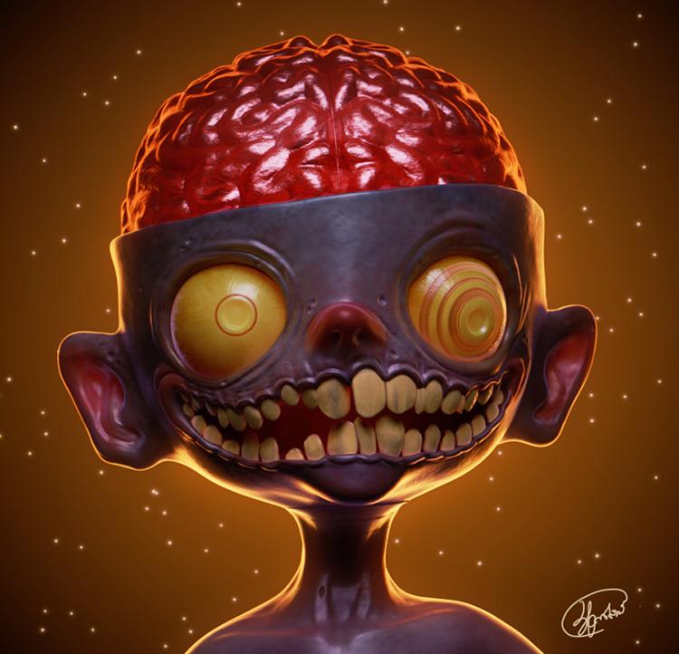 zombie boy undead character concept art
