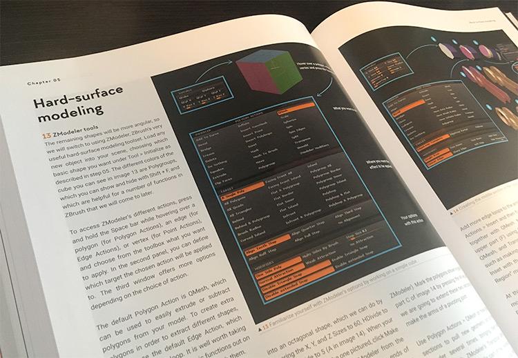 Hard surface modeling ZBrush book