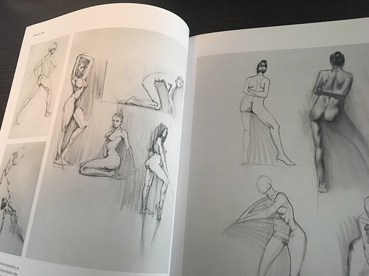 Figure drawing for concept artists book inside