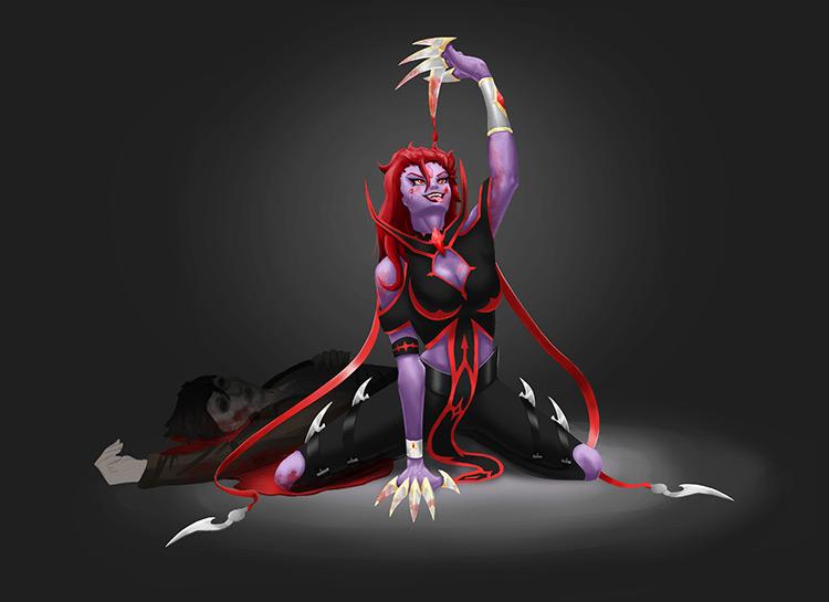 vampire blood character design concept art