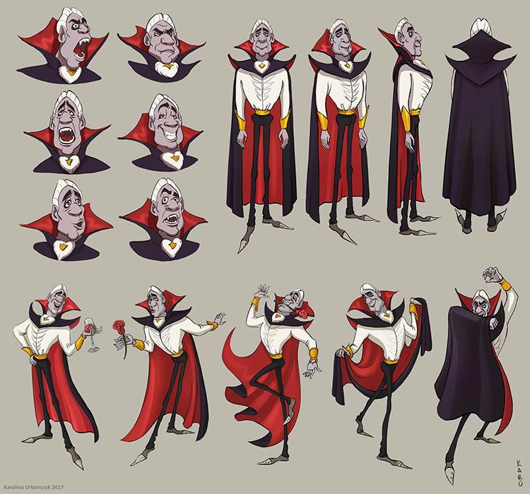 Character Design Challenge Vampire : Blood sucking vampire concept art straight from transylvania