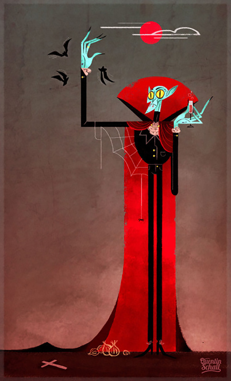 vampire cartoon character design art illustration