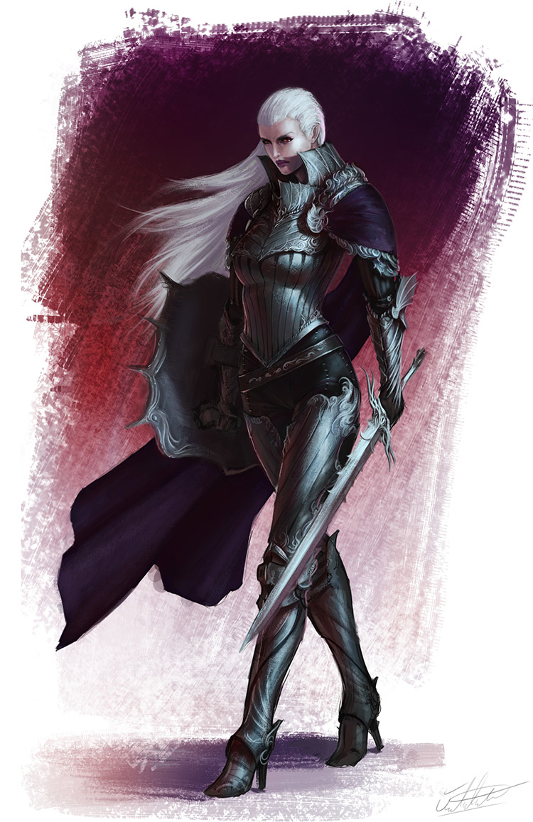 vampire knight sword fantasy art concept