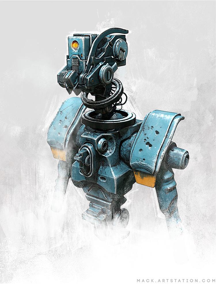 robot character bot design concept art