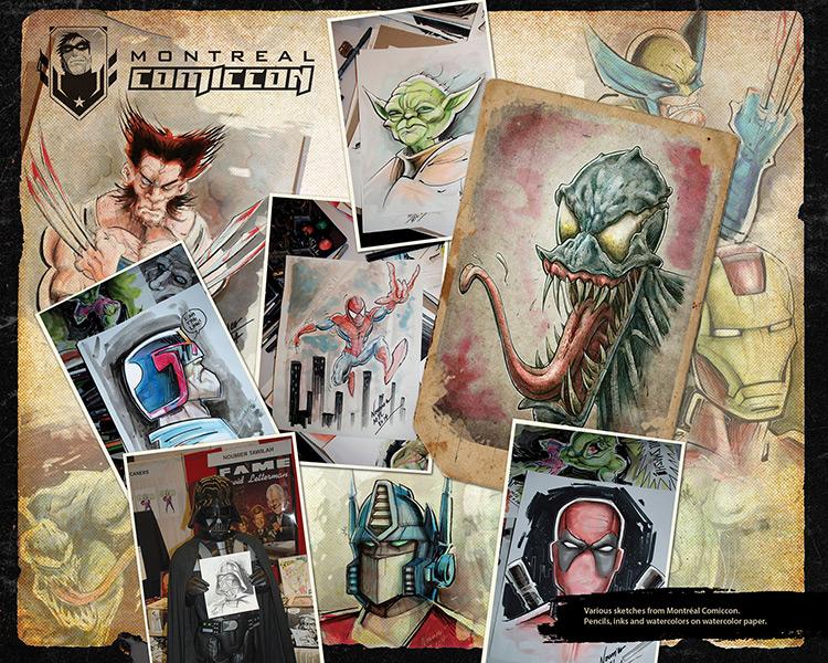 montreal comic con artwork