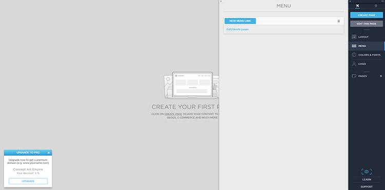 Default Portfoliobox Dashboard