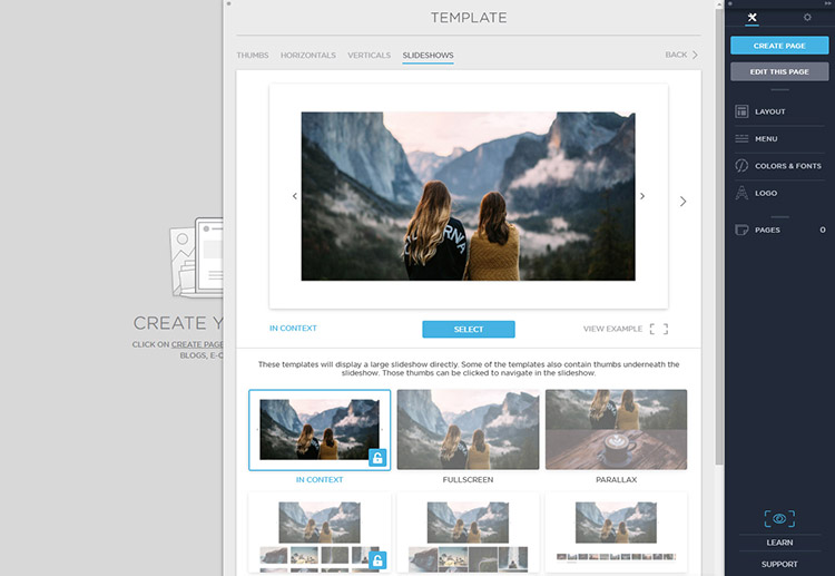 Adding custom templates for new page