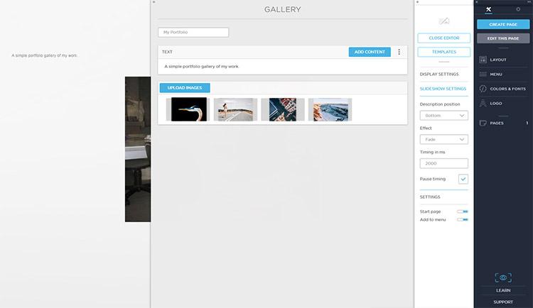 Uploading images to Portfoliobox