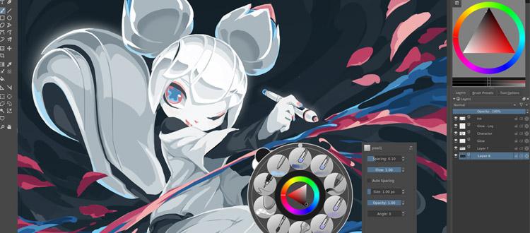 Krita Mascot v4.0