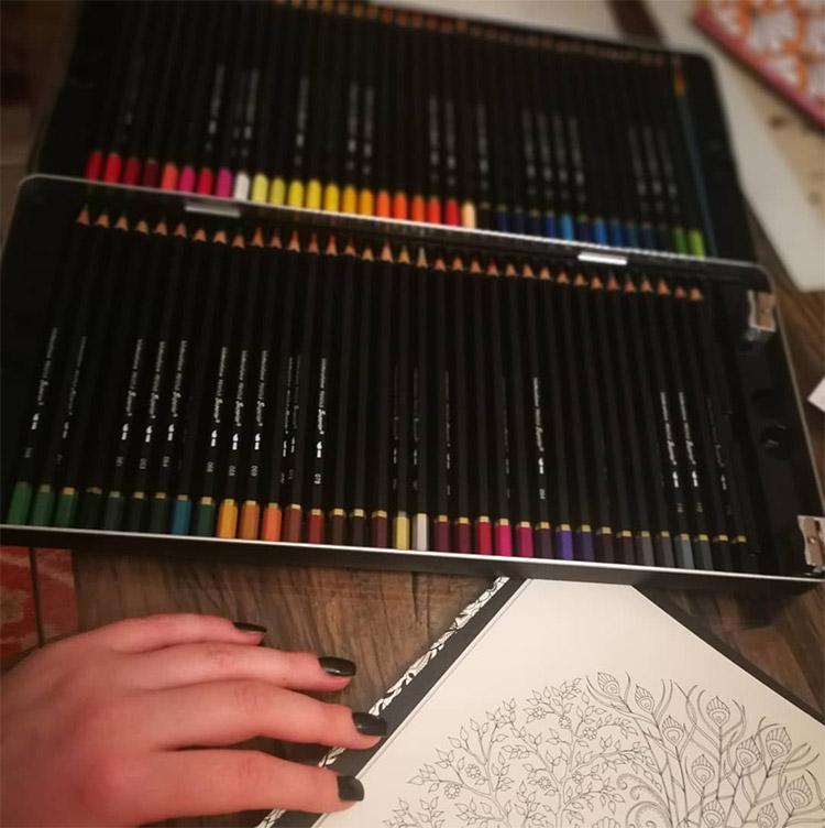 Watercolor pencil set dark designs