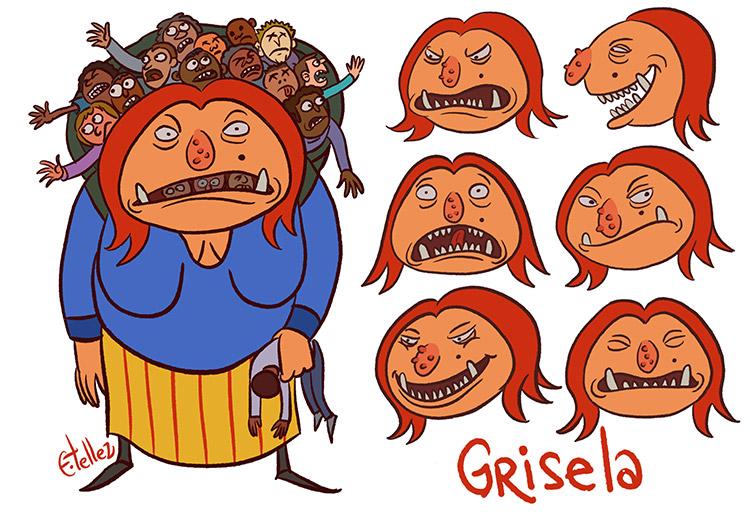 Grisela character by Edgar Tellez