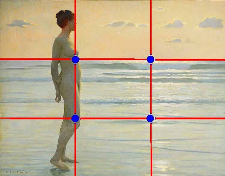 Example of rule of thirds