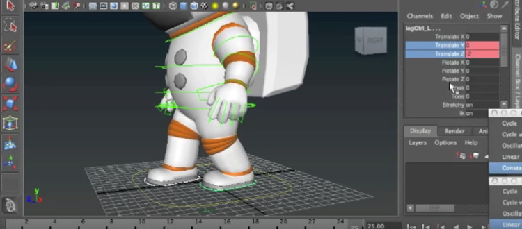 3D animation modeling character