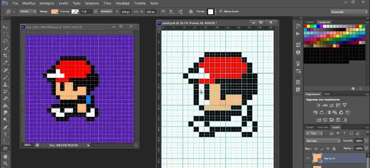 Photoshop pixel art screenshot