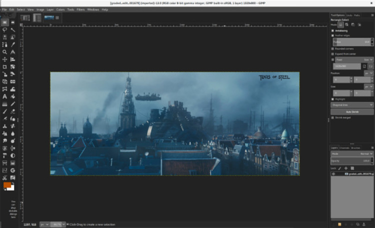 GIMP painting pixel art