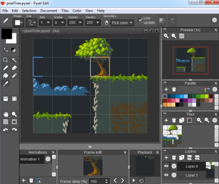 Pyxel Edit screenshot