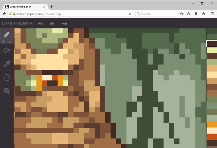Lopsec pixel editor