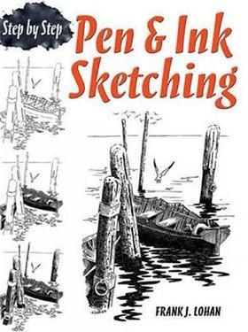 pen ink sketching stepbystep