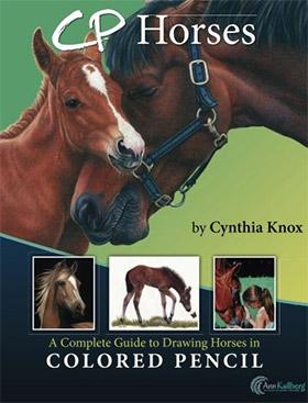 cp colored pencil horses