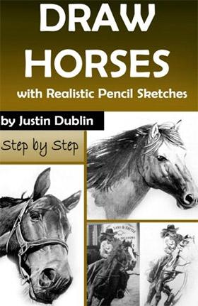 draw realistic horses book