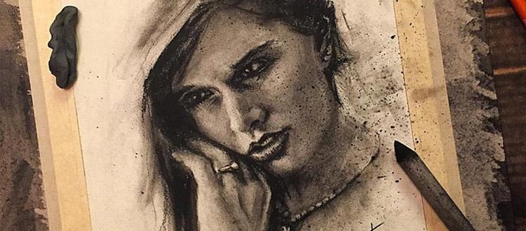portrait drawing charcoal