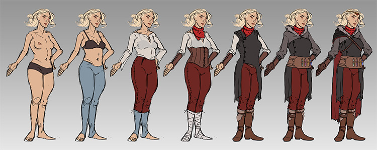 costume design concept art example