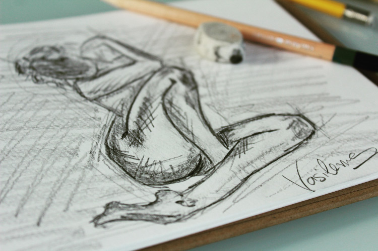 Figure drawing sketch example
