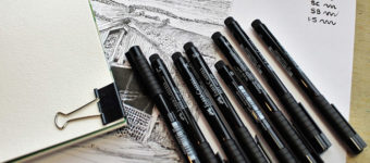 Dark ink art pens