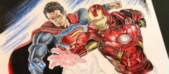 Superman + Iron Man fanart