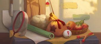 Animal Crossing still life painting