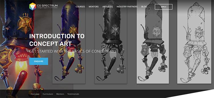 cgspectrum intro concept art