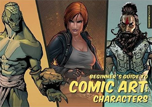 comic art characters book