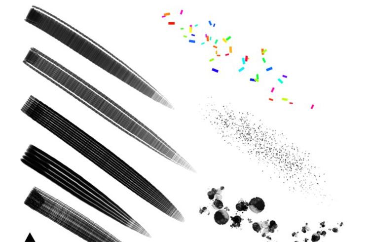 Free painterly brushes