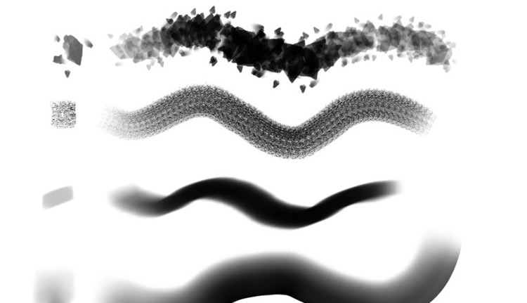 Converted Photoshop brushes into FireAlpaca