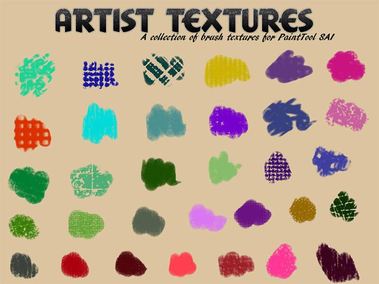 Artistic textures painttoolsai
