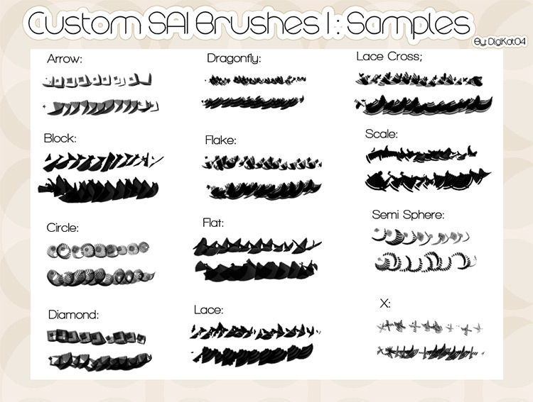 Custom SAI brushes pack